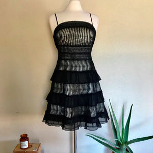 Guess Black Tiered Dress